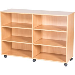 10-High-Quad-Open-Mobile-or-Static-Classroom-Storage-Unit-with-fixed-shelves-943mm-High-Nobis-Education-Furniture
