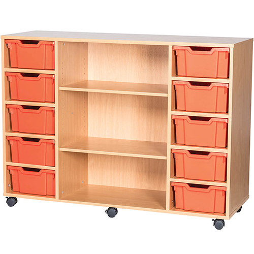 10-Tray-Quad-Bay-Deep-Tray-Classroom-Storage-Unit-Centre-Shelf-Nobis-Education-Furniture