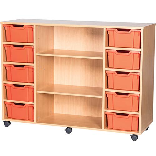 10-Tray-Quad-Bay-Deep-Tray-Classroom-Storage-Unit-Centre-Shelf-Nobis-Education-Furniture