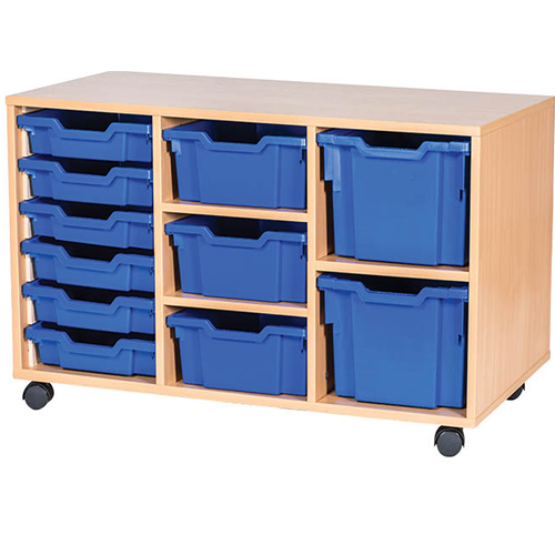 11-Mixed-Tray-Triple-Bay-Mobile-Static-Classroom-Storage-Unit-Nobis-Education-Furniture