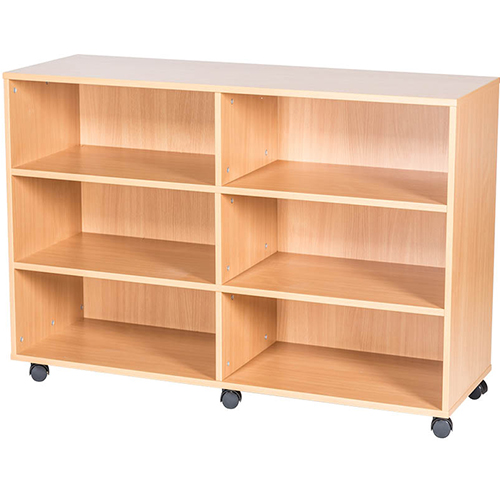 12-High-Quad-Open-Mobile-or-Static-Classroom-Storage-Unit-with-fixed-shelves-1107mm-High-Nobis-Education-Furniture