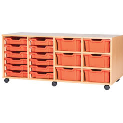 12-Shallow-6-Deep-Tray-Quad-Bay-Classroom-Storage-Unit-Centre-Shelf-Nobis-Education-Furniture