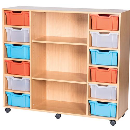 12-Tray-Quad-Bay-Deep-Tray-Classroom-Storage-Unit-Centre-Shelf-Nobis-Education-Furniture