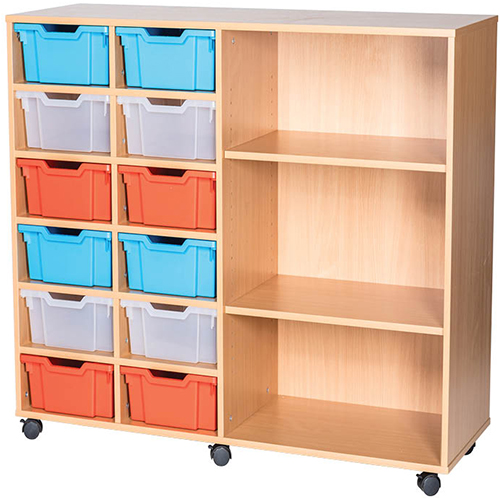 12-Tray-Quad-Bay-Deep-Tray-Classroom-Storage-Unit-End-Shelf-Nobis-Education-Furniture