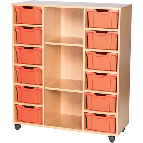 12-Tray-Triple-Bay-Deep-Tray-Classroom-Storage-Unit-Centre-Shelf-Nobis-Education-Furniture