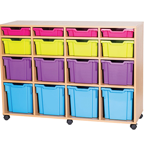 16-Mixed-Tray-Quad-Bay-Mobile -Static-Classroom-Storage-Unit-Nobis-Education-Furniture