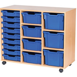 16-Mixed-Tray-Triple-Bay-Mobile-Static-Classroom-Storage-Unit-Nobis-Education-Furniture