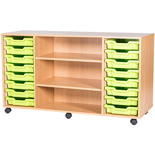 16-Tray-Quad-Bay-Centre-Shelves-Classroom-Storage-Unit-Nobis-Education-Furniture