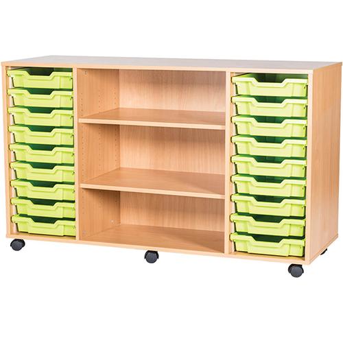 18-Tray-Quad-Bay-Classroom-Storage-Unit-With-Centre-Shelves-Nobis-Education-Furniture