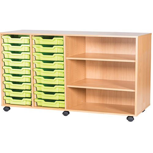 18-Tray-Quad-Bay-Classroom-Storage-Unit-With-End Shelves-Nobis-Education-Furniture