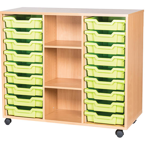 18-Tray-Triple-Bay-Classroom-Storage-Unit-With-Centre-Shelves-Nobis-Education-Furniture