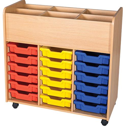 18-Tray-Triple-Bay-Mobile-School-Book-Trolley-Nobis-Education-Furniture