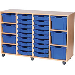 25-Mixed-Tray-Quad-Bay-Mobile -Static-Classroom-Storage-Unit-Nobis-Education-Furniture