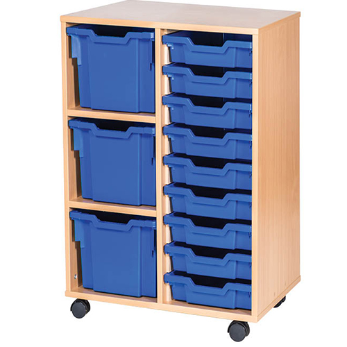 3-Extra-Deep-9-Shallow-Tray-Mobile-Static-Unit-Single-Bay-Nobis-Education-furniture
