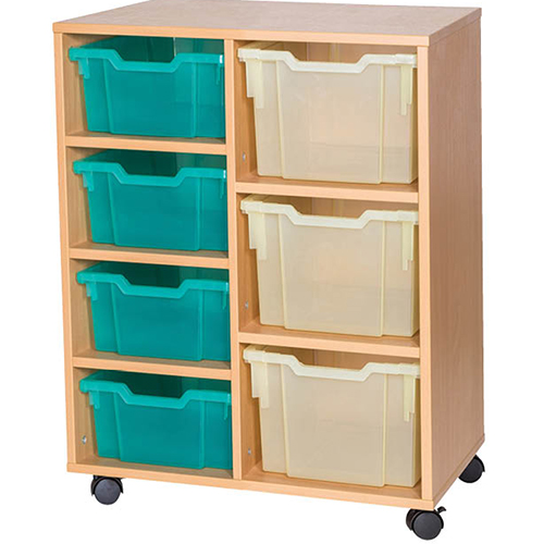 4-Deep-3-Extra-Deep-Mixed-Tray-Double-Bay-Mobile-Static-Classroom-Storage-Unit-Nobis-Education-Furniture