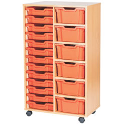 6-Deep-13-Shallow-Tray-Classroom-Storage-Double-Bay-Unit-Nobis-Education-Furniture