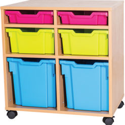 6-Mixed-Tray-Double-Bay-Mobile-Static-Classroom-Storage-Unit-Nobis-Education-Furniture