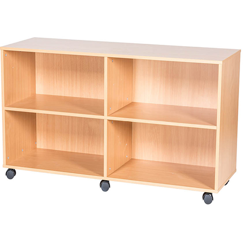 7-High-Quad-Open-Mobile-or-Static-Classroom-Storage-Unit-with-fixed-shelves-697mm-High-Nobis-Education-Furniture