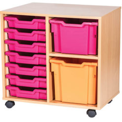 7-Shallow-1-Extra-Deep-1-Jumbo-Double-Bay-Mobile-Static-Classroom-Storage-Unit-Nobis-Education-Furniture