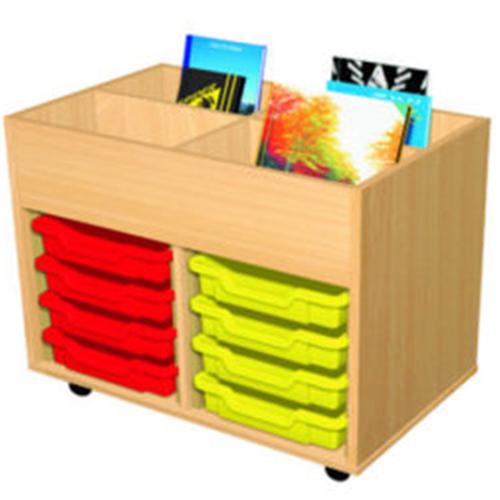 8-Tray-Mobile-School-Book-Trolley-Nobis-Education-Furniture