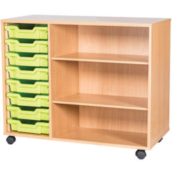 classroom 8 tray triple bay storage unit 779mm high