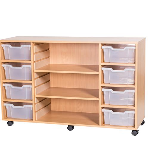 8-Tray-Quad-Bay-Centre-Shelves-Classroom-Storage-Unit-Nobis-Education-Furniture