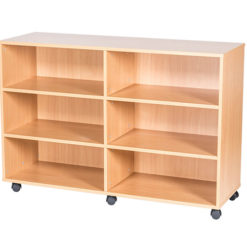 9-High-Quad-Open-Mobile-or-Static-Classroom-Storage-Unit-with-fixed-shelves-861mm-High-Nobis-Education-Furniture