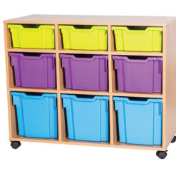 9-Mixed-Tray-Triple-Bay-Mobile-Static-Classroom-Storage-Unit-Nobis-Education-Furniture