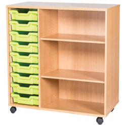 classroom 9 tray mobile static storage unit 861mm high