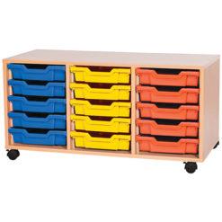 5 High 15 Tray Classroom Storage Unit