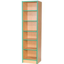Folio-Premium-375mm-Wide-Flat-Top-School-Library-Bookcase-1800mm-High-Nobis-Education-Furniture