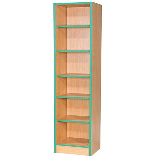 Folio-Premium-375mm-Wide-Flat-Top-School-Library-Bookcase-1800mm-High-Nobis-Education-Furniture