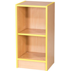 Folio-Premium-375mm-Wide-Flat-Top-School-Library-Bookcase-750mm-High-Nobis-Education-Furniture