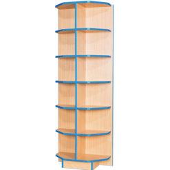 Folio-Premium-650mm-Wide-Flat-Top-End-Cap-School-Library-Bookcase-1800mm-High-Nobis-Education-Furniture