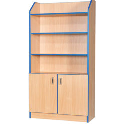 Folio-Premium-750mm-Wide-1800mm-High-School-Library-Cupboard-with-Shelving-Nobis-Education-Furniture