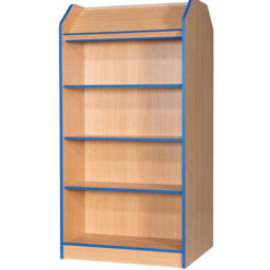 Folio-Premium-750mm-Wide-1800mm-High-School-Library-Double-Sided-Bookcase-with-Angled-Top-Shelf-Nobis-Education-Furniture