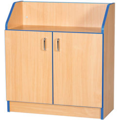 Folio-Premium-750mm-Wide-750mm-High-School-Library-Cupboard-with-Shelving-Nobis-Education-Furniture