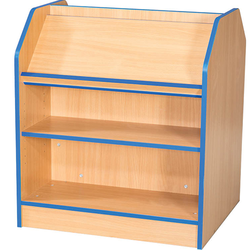 Folio-Premium-750mm-Wide-750mm-High-School-Library-Double-Sided-Bookcase-with-Angled-Top-Shelf-Nobis-Education-Furniture