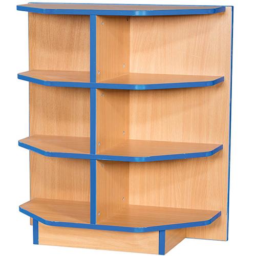 Folio-Premium-650mm-Wide-Flat-Top-End-Cap-School-Library-Bookcase-750mm-High-Nobis-Education-Furniture