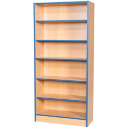 Folio-Premium-750mm-Wide-Flat-Top-Double-Sided-School-Library-Bookcase-1800mm-High-Nobis-Education-Furniture