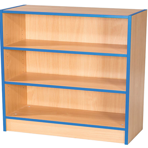 Folio-Premium-750mm-Wide-Flat-Top-Double-Sided-School-Library-Bookcase-750mm-High-Nobis-Education-Furniture