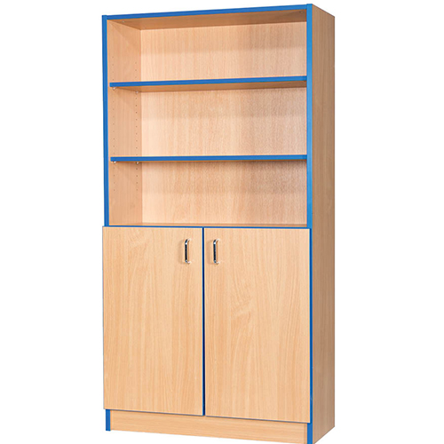 Folio-Premium-750mm-Wide-Flat-Top-School-Library-Cupboard-1800mm-High-Nobis-Education-Furniture