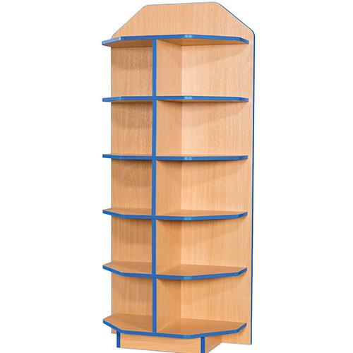 Folio-Premium-750mm-Wide-School-Library-End-Cap-Unit-1800mm-High-Nobis-Education-Furniture