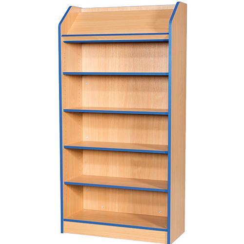 Folio-Premium-School-Library-Bookcase-Angled-Top-Shelf-750mm-Wide-1800mm-High-Nobis-Education-Furniture
