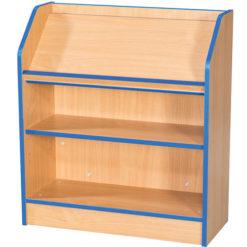 Folio-Premium-School-Library-Bookcase-Angled-Top-Shelf-750mm-Wide-750mm-High-Nobis-Education-Furniture