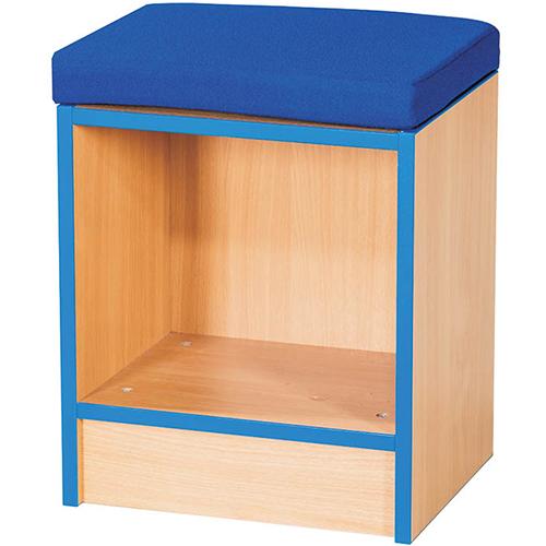 Folio-Premium-Single-School-Library-Book-Storage-Bench-with-Cushion-500mm-High-Nobis-Education-Furniture
