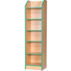 Folio-Premium-Slimline-School-Library-Bookcase-375mm-Wide-1800mm-High-Nobis-Education-Furniture