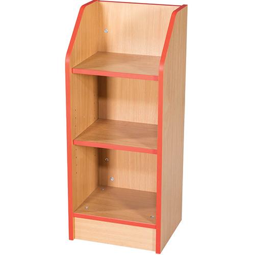Folio-Premium-Slimline-School-Library-Bookcase-375mm-Wide-750mm-High-Nobis-Education-Furniture
