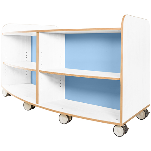 KubbyClass-Polar-School-Library-Curved-Mobile-Bookcase-750mm-High-Light-Blue-Nobis-Education-Furniture