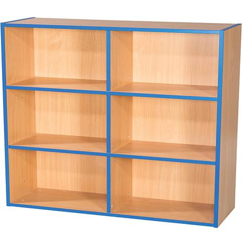 KubbyKurve-Three-Tier-2-+-2-+-2-School-Library-Shelf-Unit-1040mm-High-1000mm-Wide-Nobis-Education-Furniture